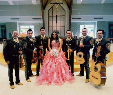 With a beautiful Quinceanera